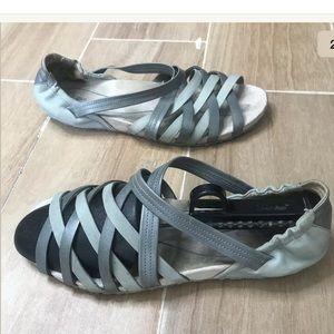 AHNU US 9.5M  Mint green and Gray MEGY Sandals